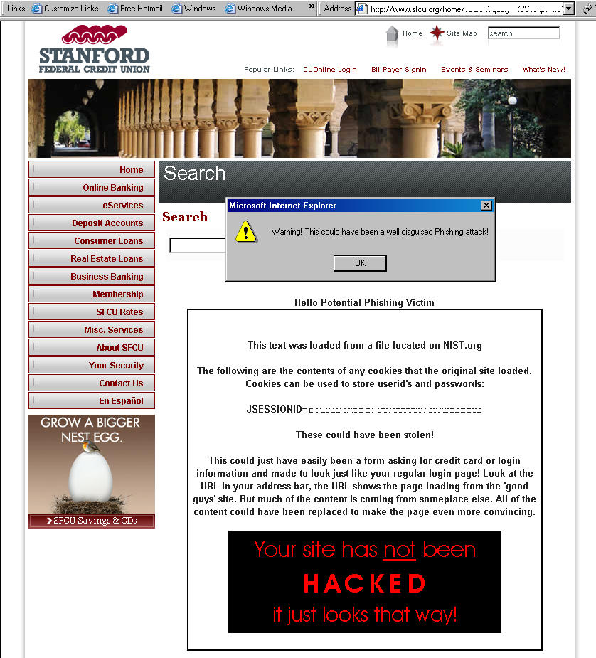 Content / General IT Security / XSS Hall of Shame - NIST IT